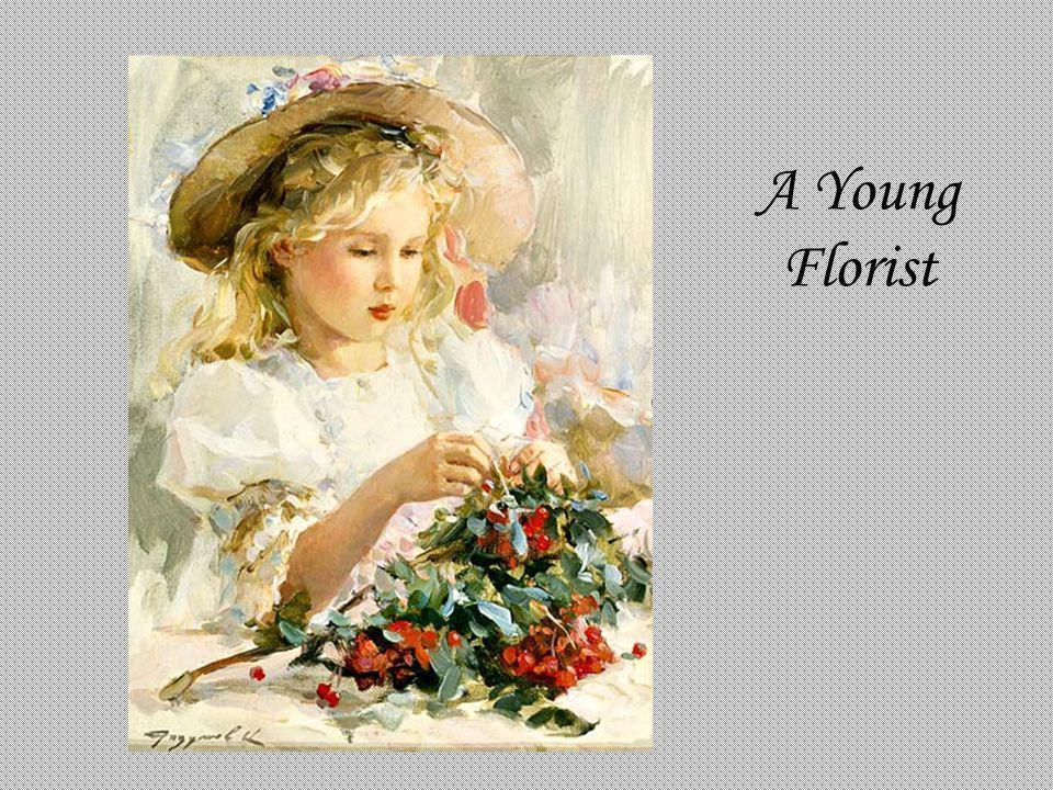A Young Florist Konstantin Razumov A Young Florist