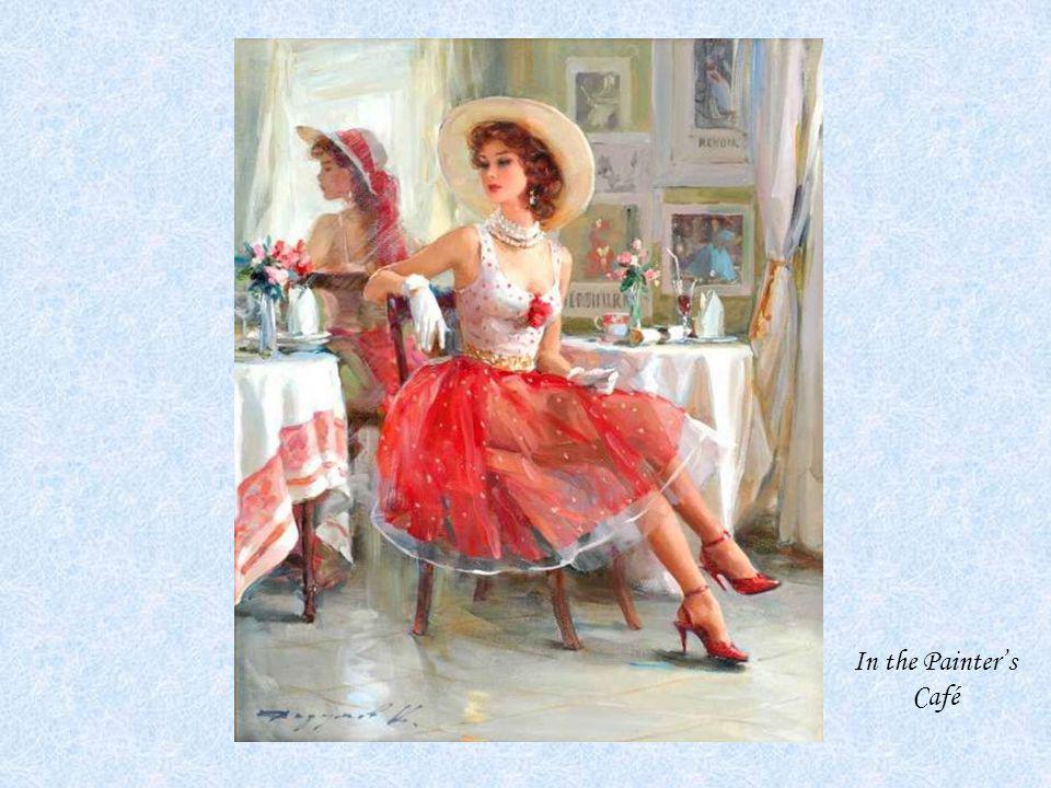 KONSTANTIN RAZUMOV (Born 1974) RUSSIAN In the Painter's Café . Signed