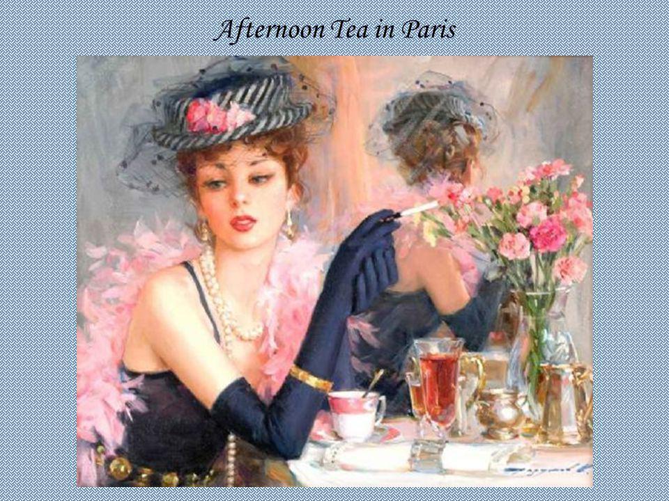 Afternoon Tea in Paris KONSTANTIN RAZUMOV (Born 1974) RUSSIAN Afternoon Tea in Paris .