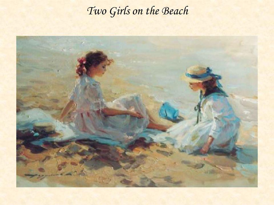 Two Girls on the Beach KONSTANTIN RAZUMOV (Born 1974) RUSSIAN Two Girls on the Beach .