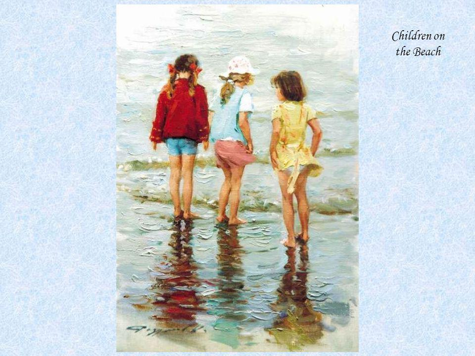 Children on the Beach KONSTANTIN RAZUMOV (Born 1974) RUSSIAN Children on the Beach .