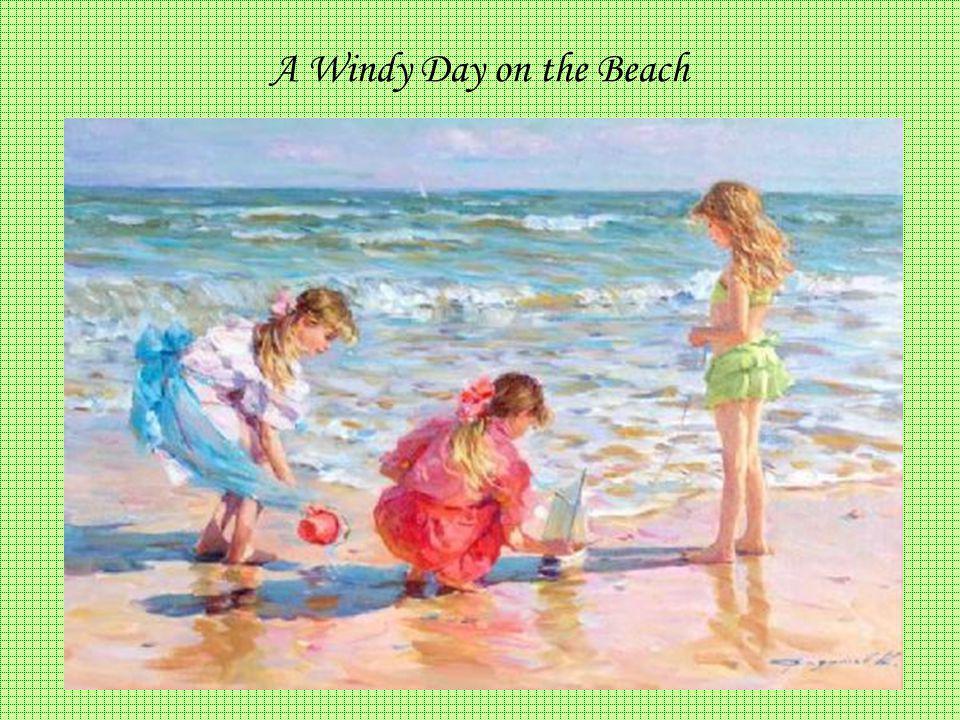 A Windy Day on the Beach KONSTANTIN RAZUMOV (Born 1974) RUSSIAN A Windy Day on the Beach .
