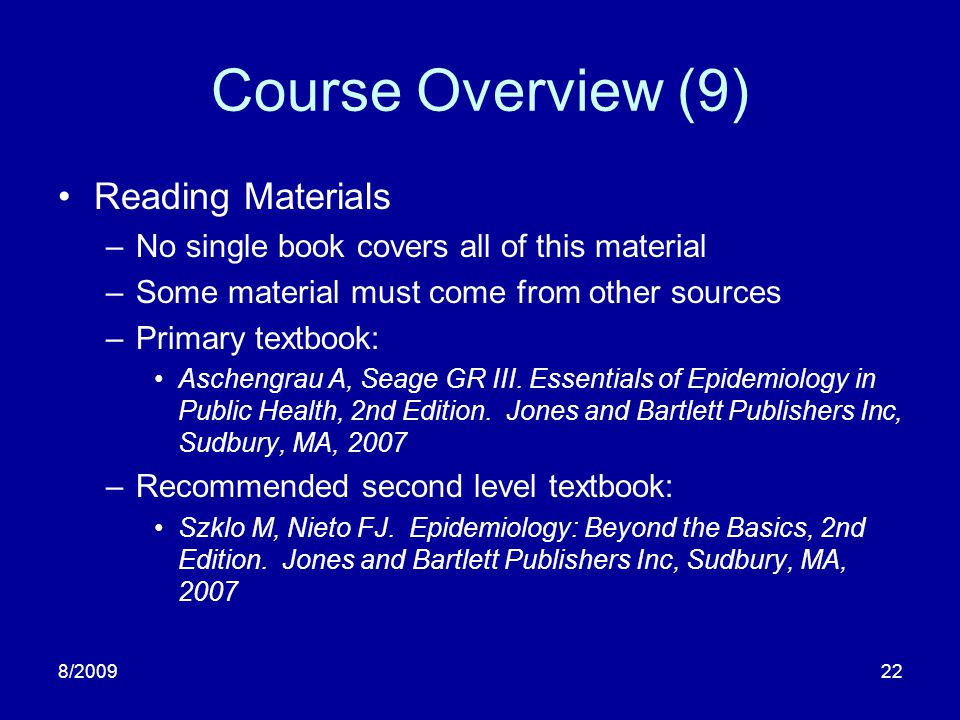 Course Overview (9) Reading Materials