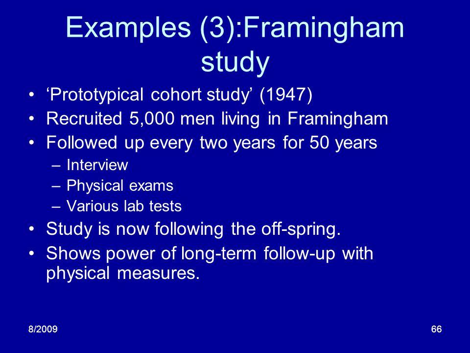 Examples (3):Framingham study