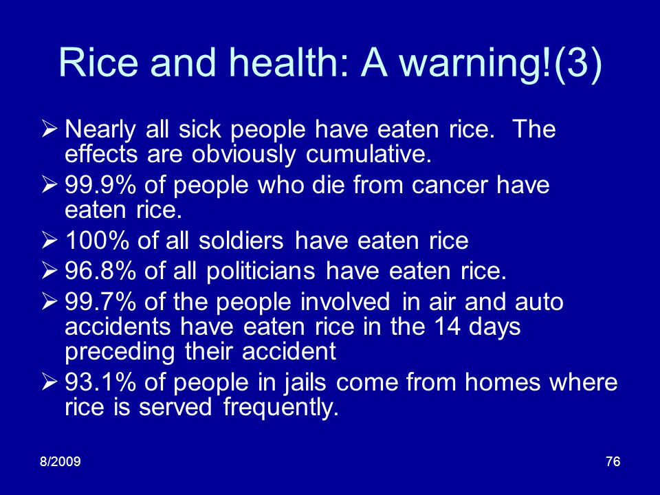 Rice and health: A warning!(3)