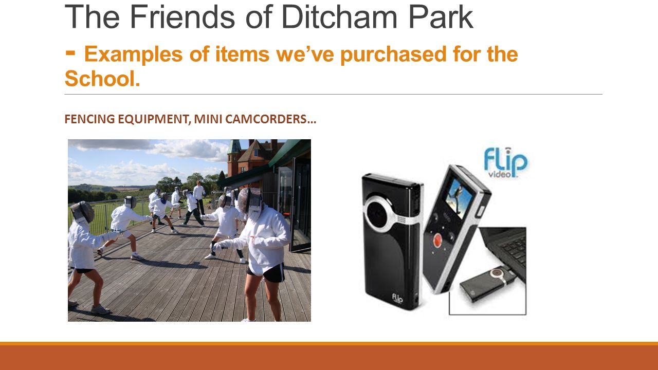 The Friends of Ditcham Park - Examples of items we've purchased for the School.