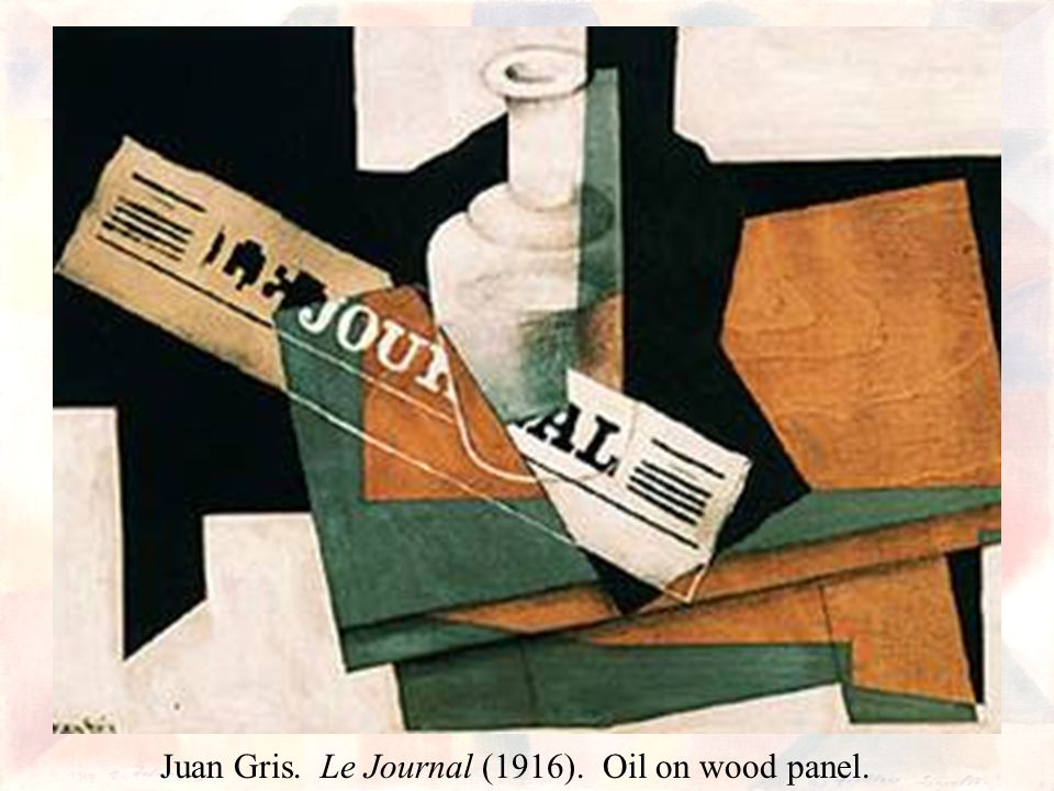 Juan Gris. Le Journal (1916). Oil on wood panel.