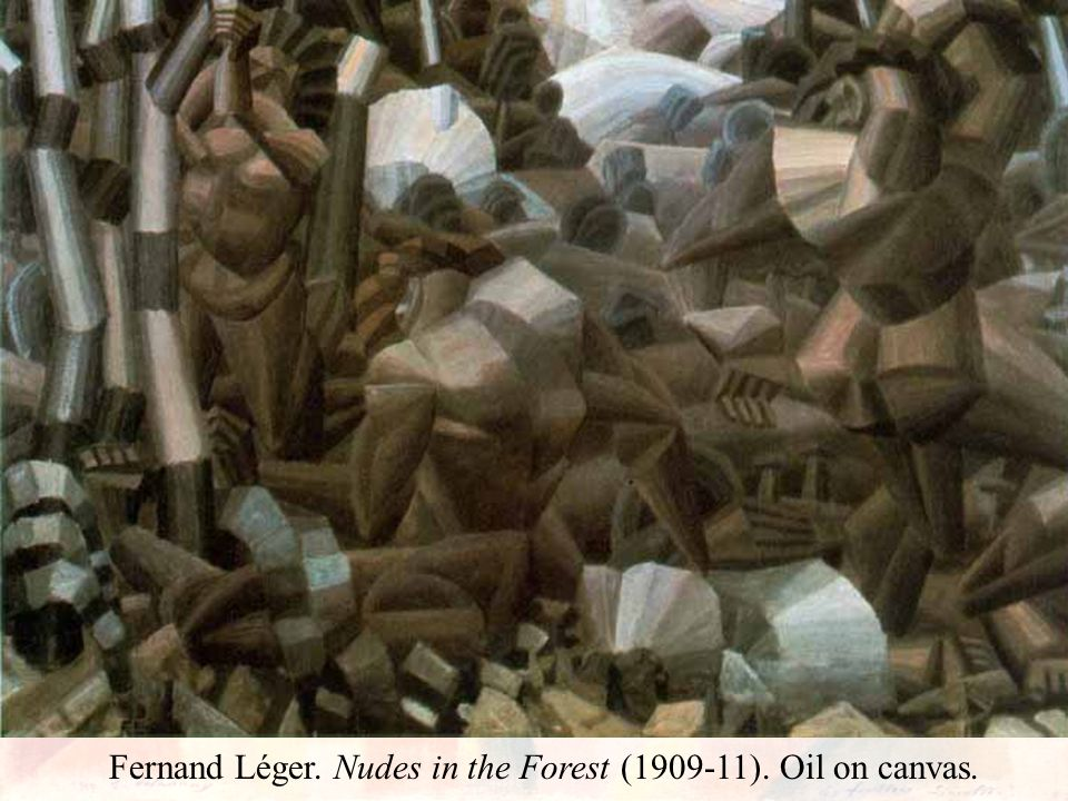 Fernand Léger. Nudes in the Forest (1909-11). Oil on canvas.