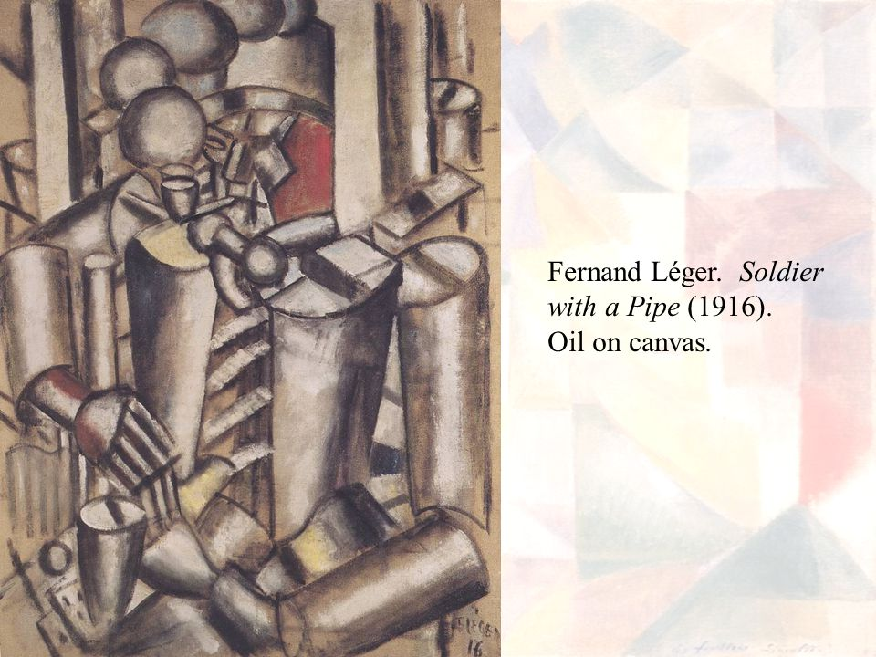 Fernand Léger. Soldier with a Pipe (1916). Oil on canvas.