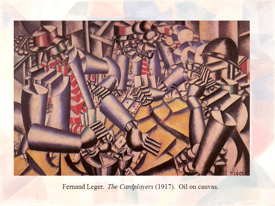 Fernand Leger. The Cardplayers (1917). Oil on canvas.