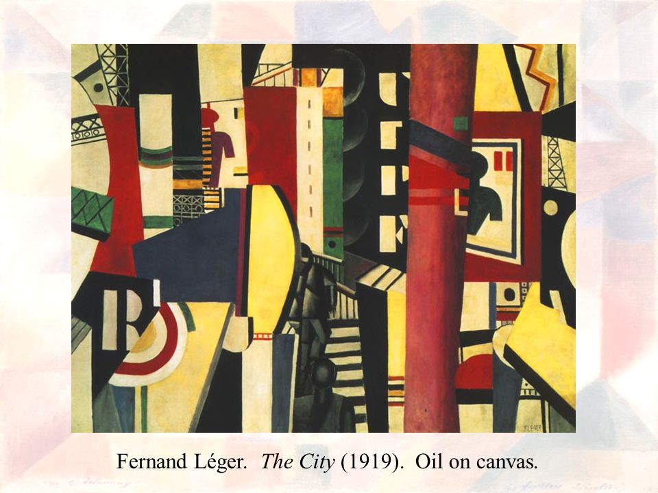 Fernand Léger. The City (1919). Oil on canvas.