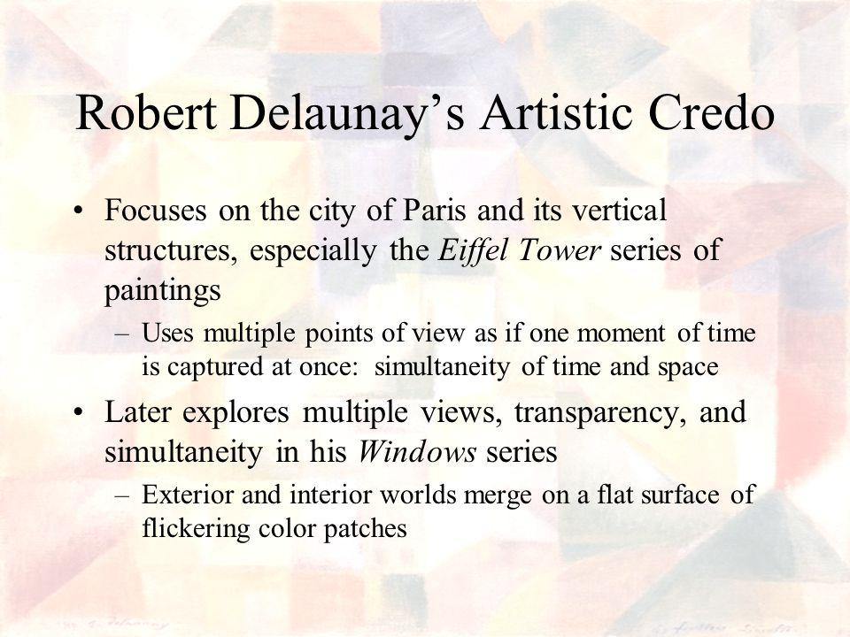 Robert Delaunay's Artistic Credo