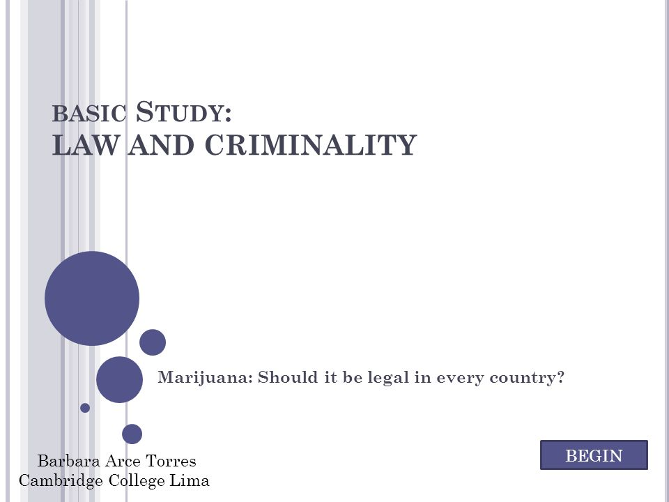 basic Study: LAW AND CRIMINALITY