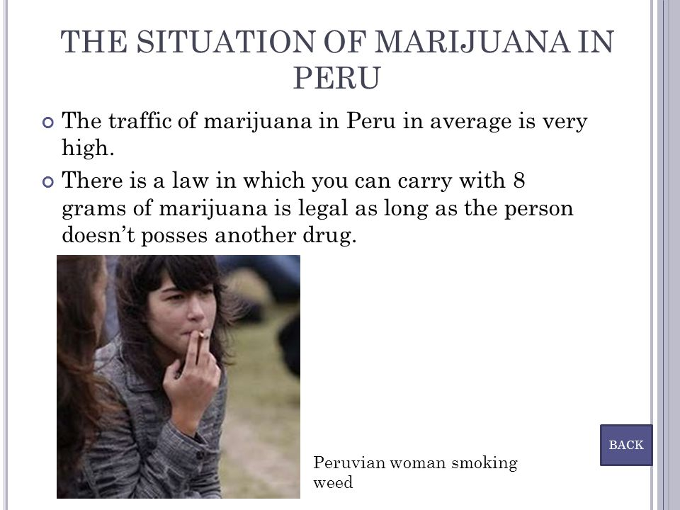 THE SITUATION OF MARIJUANA IN PERU