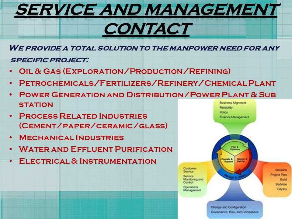 SERVICE AND MANAGEMENT