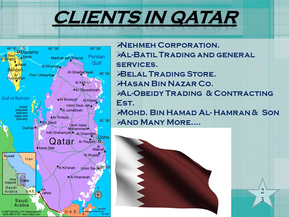 CLIENTS IN qATAR Nehmeh Corporation.