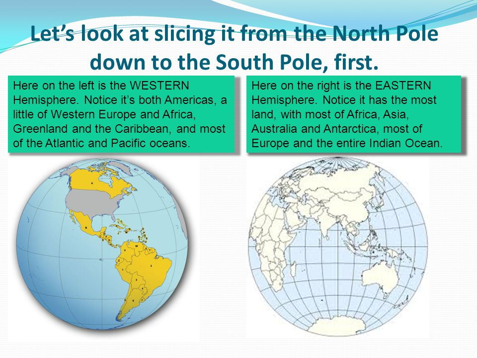 Let's look at slicing it from the North Pole down to the South Pole, first.