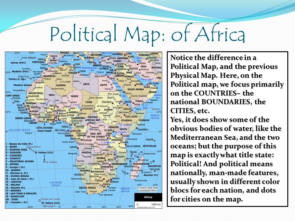 Political Map: of Africa