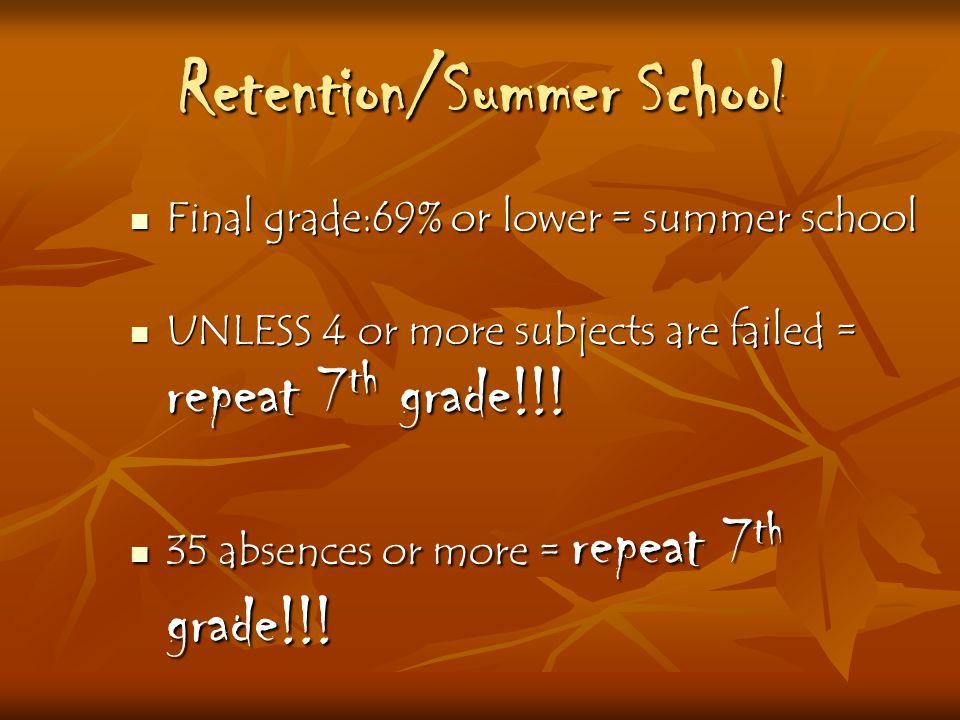 Retention/Summer School