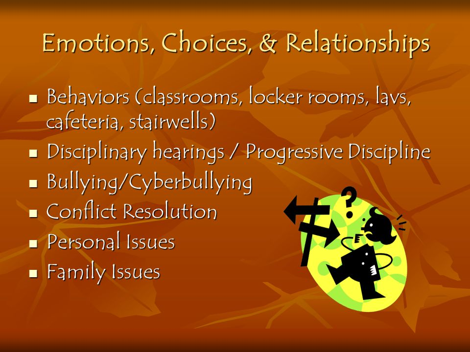 Emotions, Choices, & Relationships