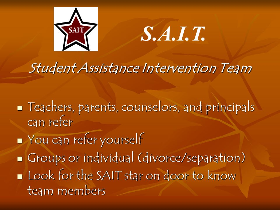 Student Assistance Intervention Team