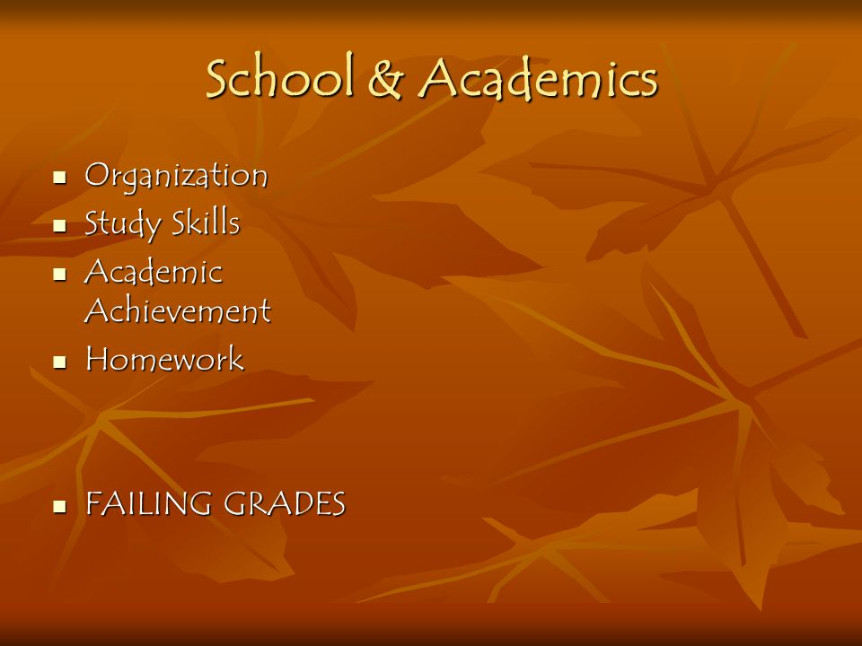 School & Academics Organization Study Skills Academic Achievement