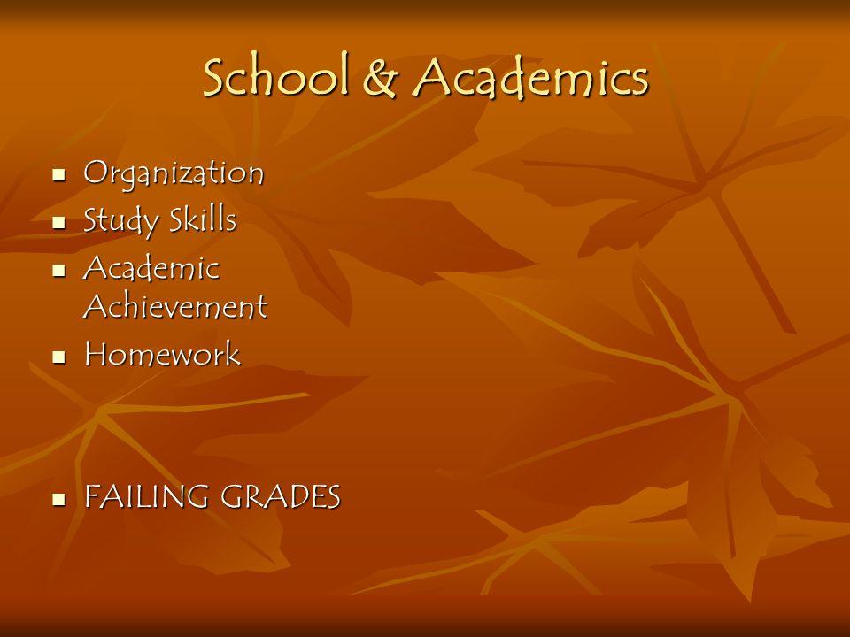 School & Academics Organization Study Skills Academic Achievement