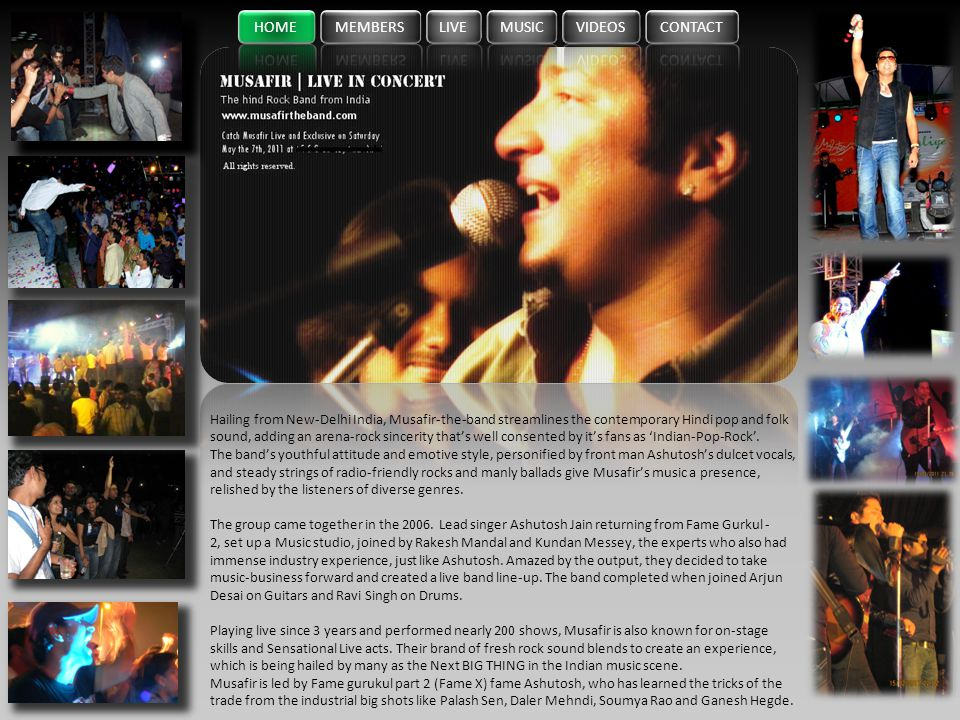 HOME MEMBERS LIVE MUSIC VIDEOS CONTACT