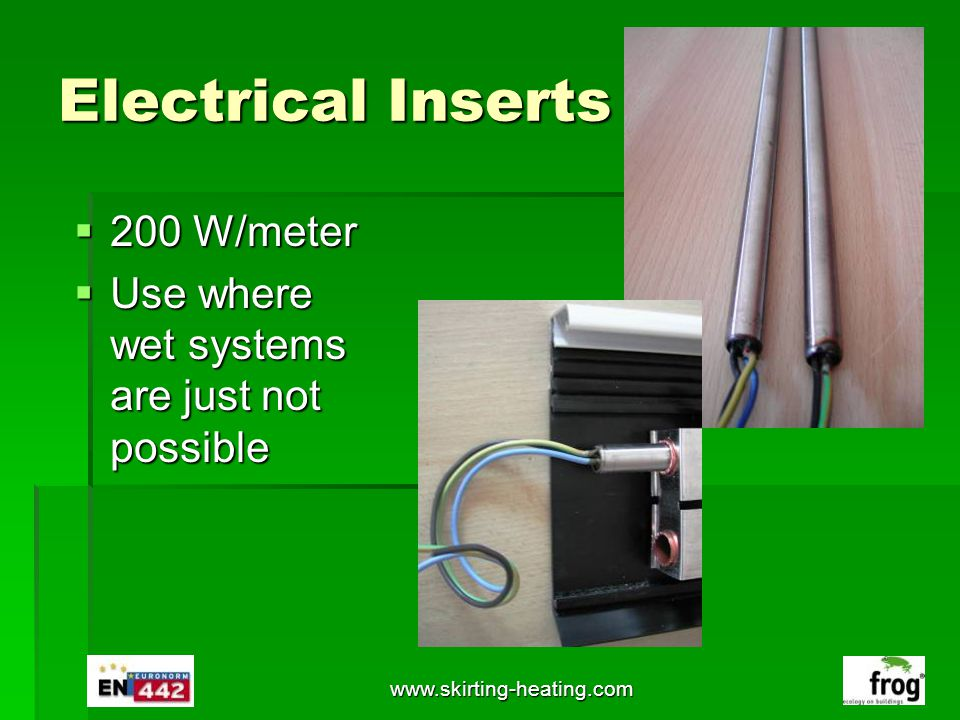Electrical Inserts 200 W/meter