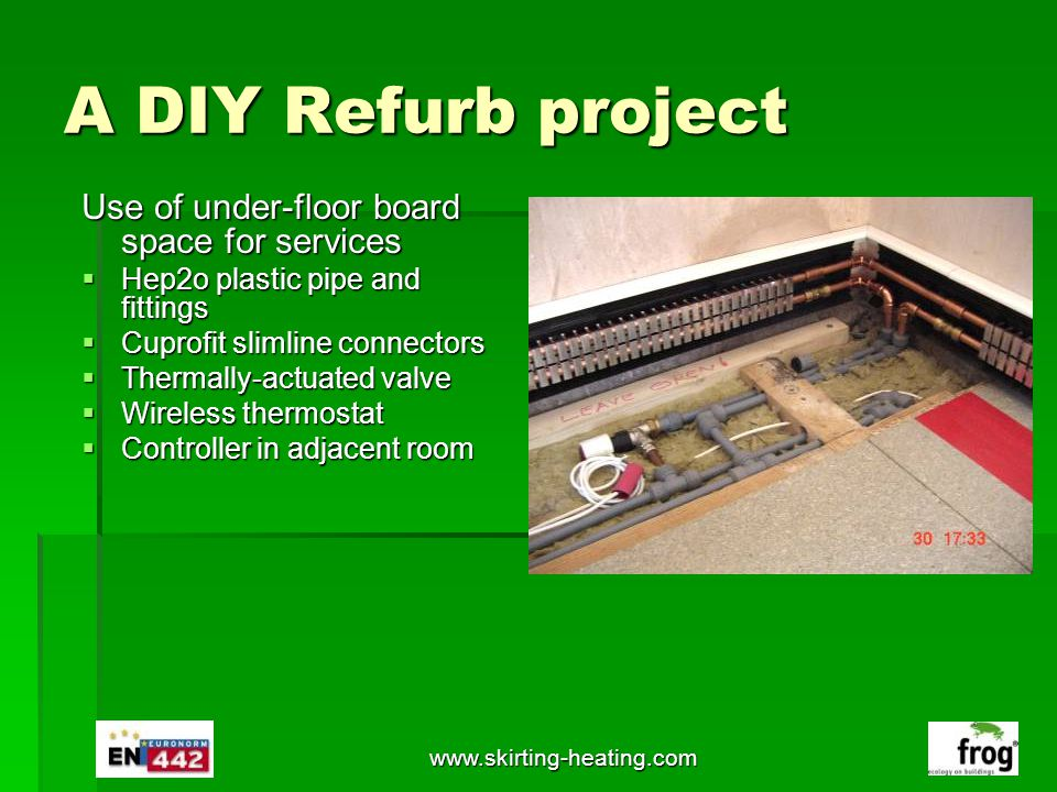 A DIY Refurb project Use of under-floor board space for services