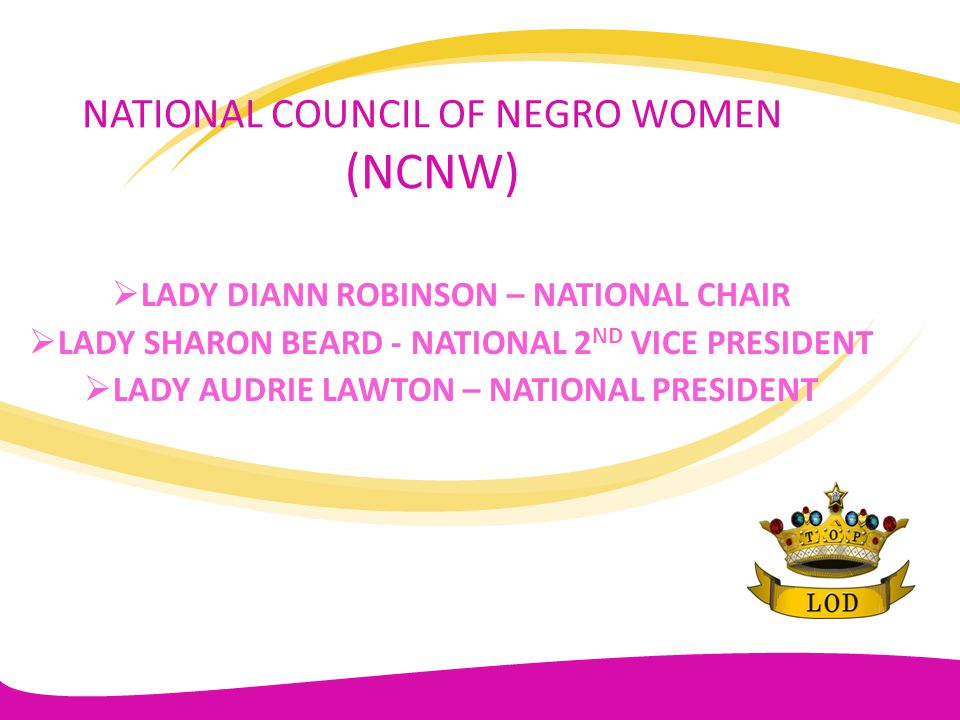 NATIONAL COUNCIL OF NEGRO WOMEN (NCNW)