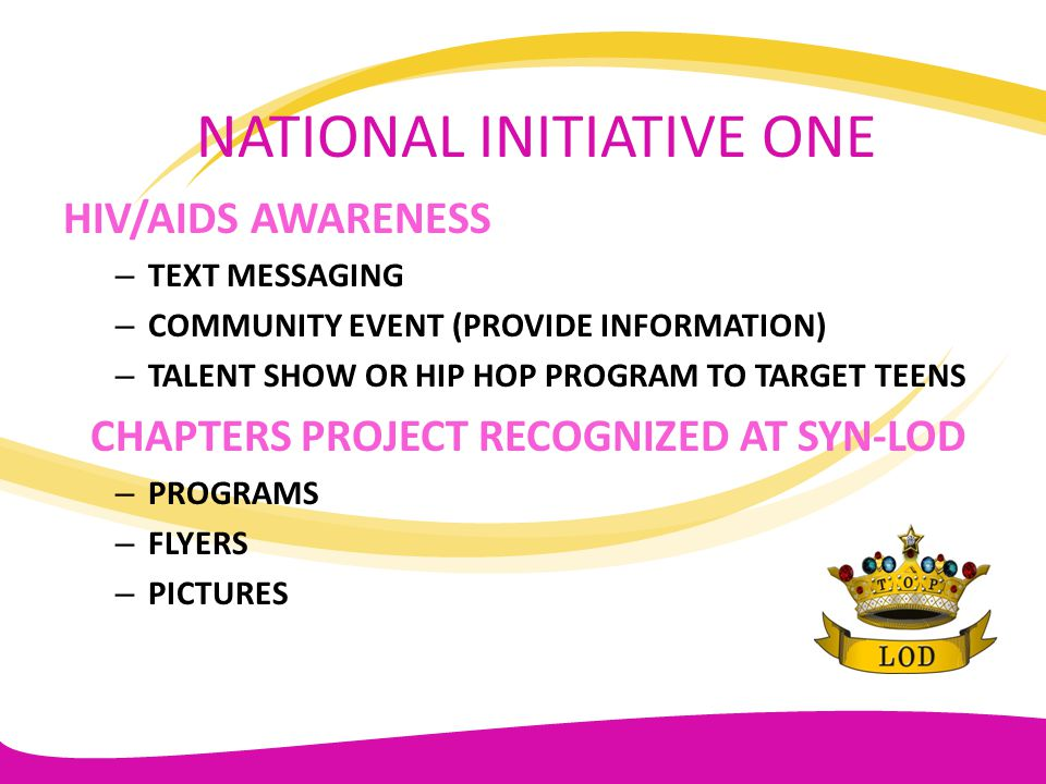 NATIONAL INITIATIVE ONE