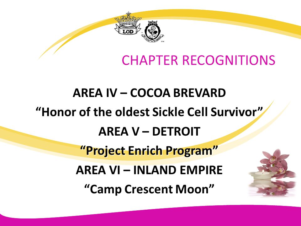 Honor of the oldest Sickle Cell Survivor Project Enrich Program