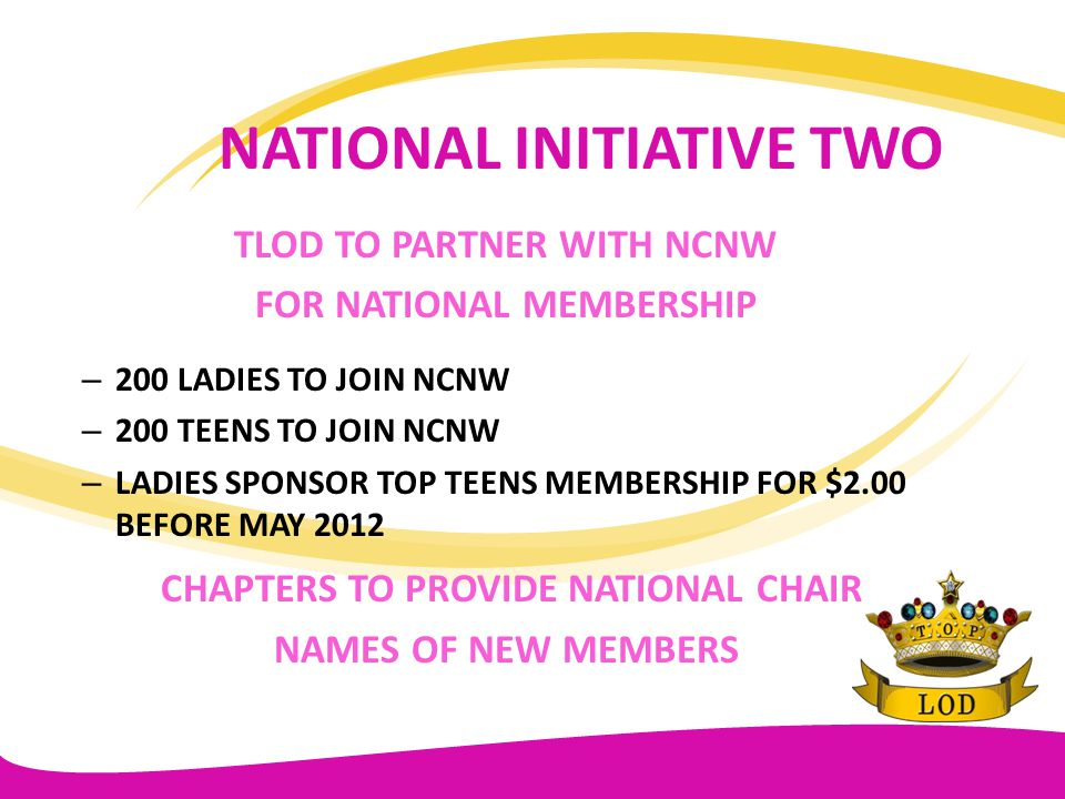 NATIONAL INITIATIVE TWO