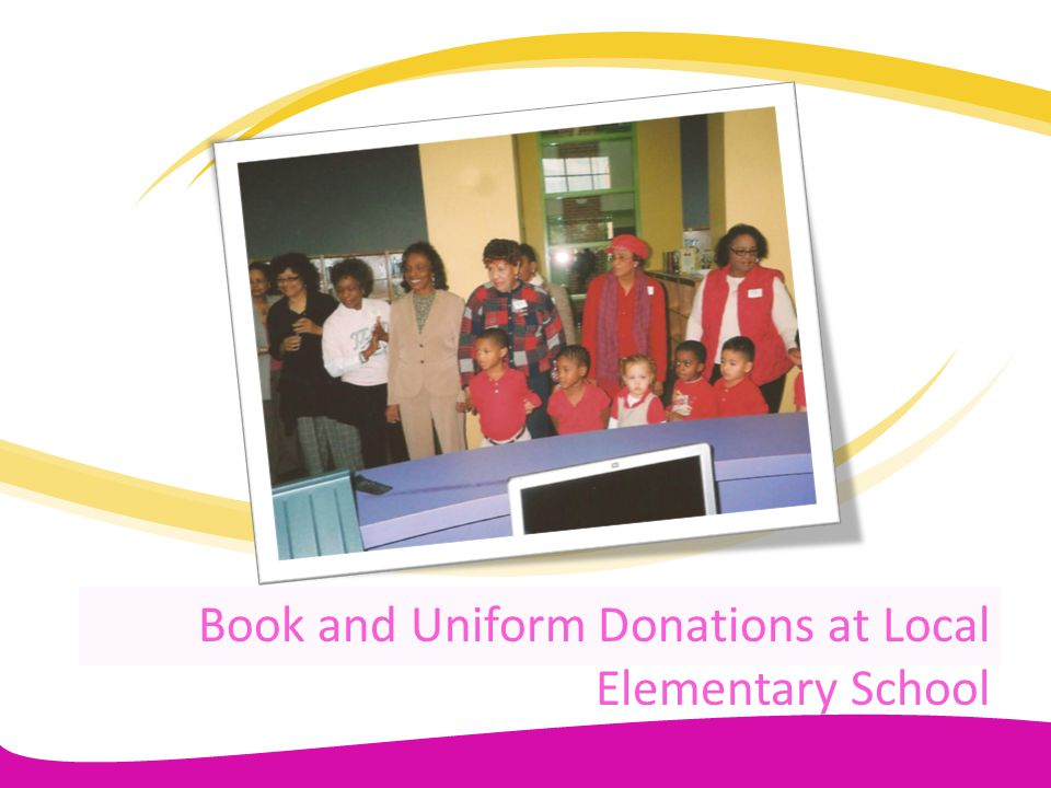 Book and Uniform Donations at Local Elementary School