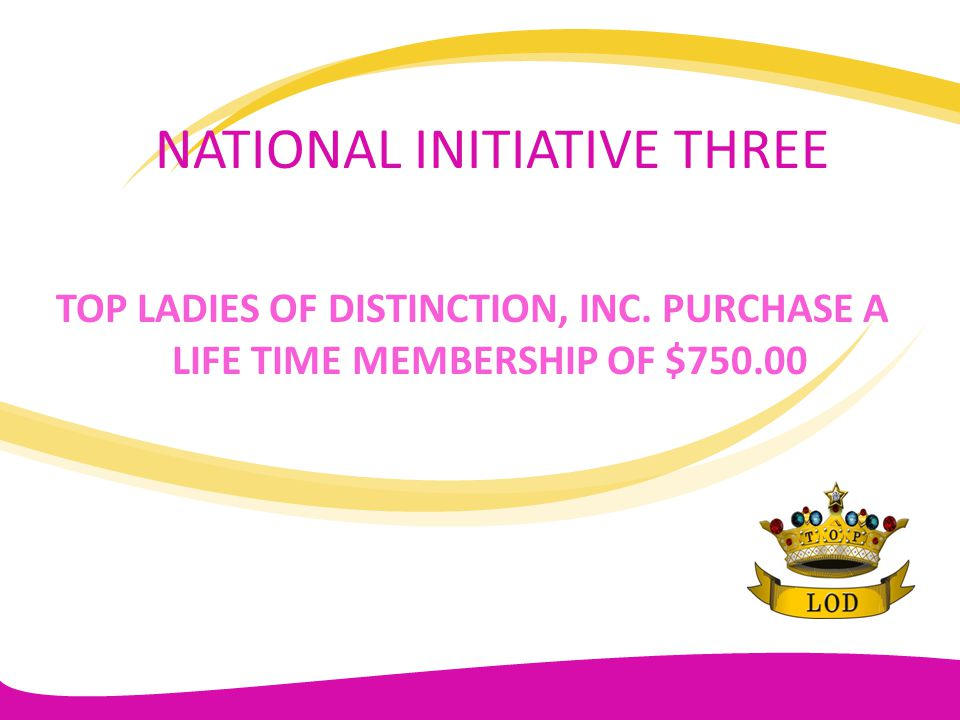 NATIONAL INITIATIVE THREE