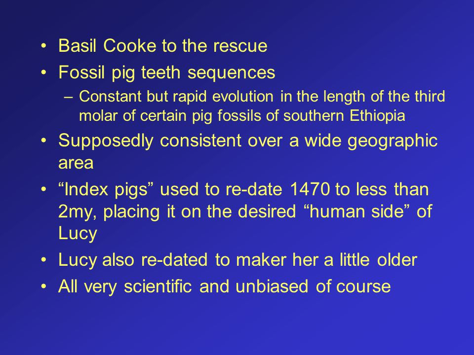 Basil Cooke to the rescue Fossil pig teeth sequences