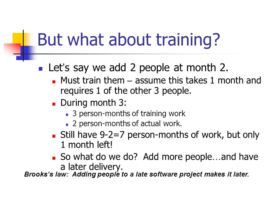 But what about training