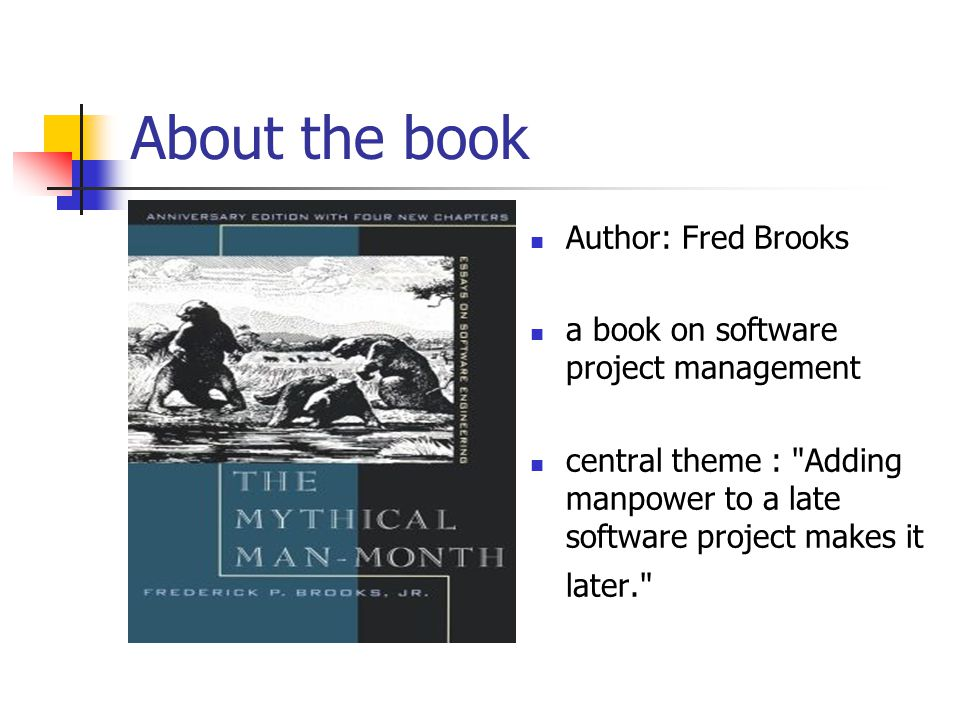 About the book Author: Fred Brooks