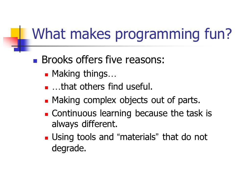 What makes programming fun