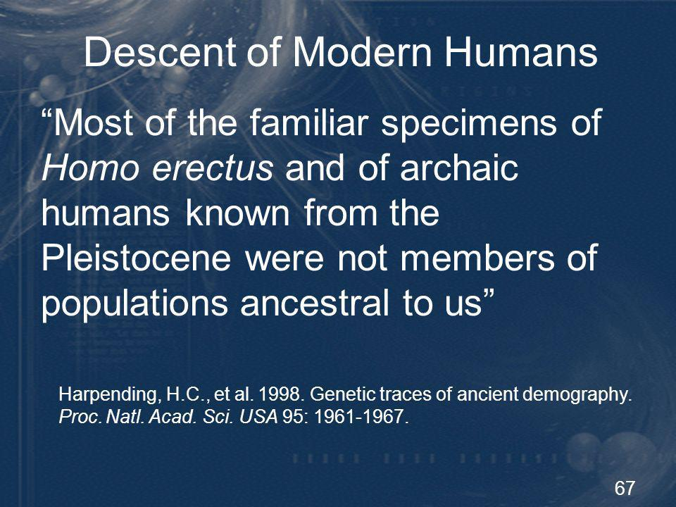 Descent of Modern Humans