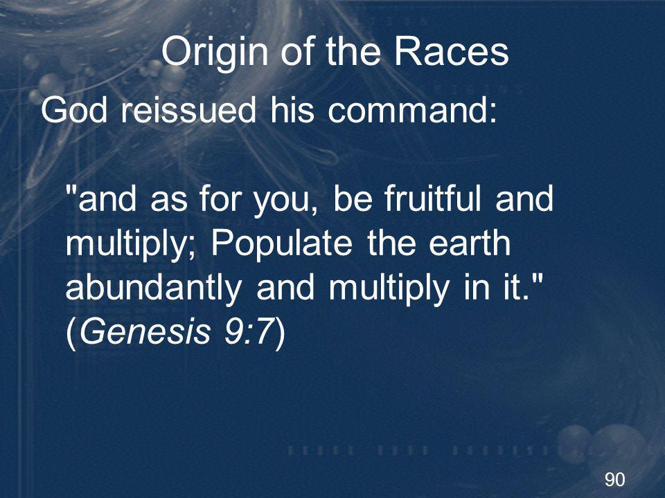 Origin of the Races