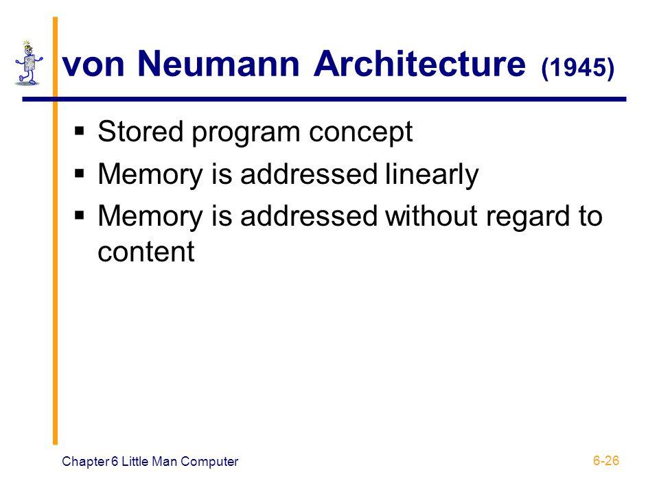 von Neumann Architecture (1945)