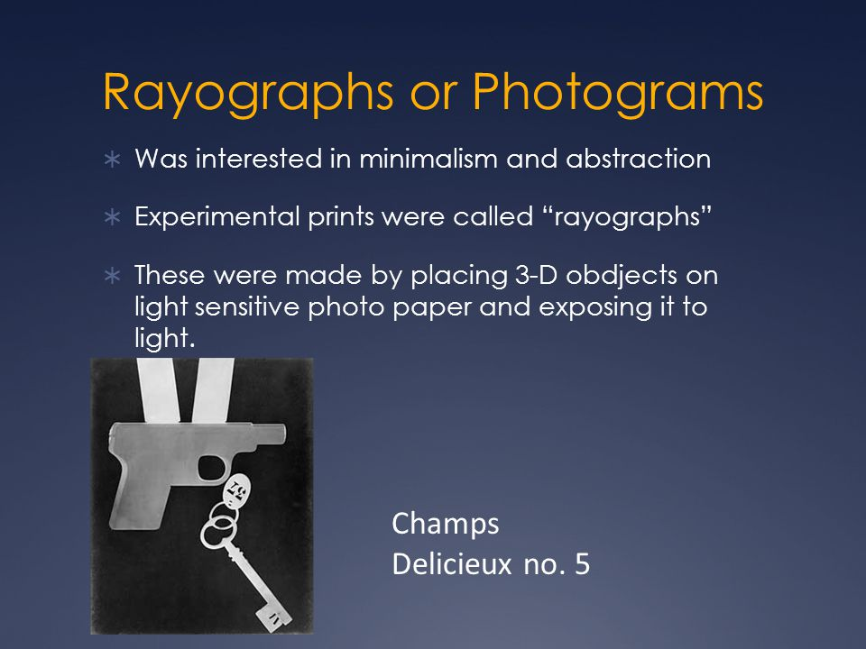 Rayographs or Photograms