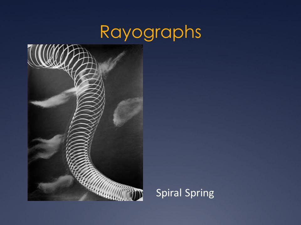 Rayographs Spiral Spring