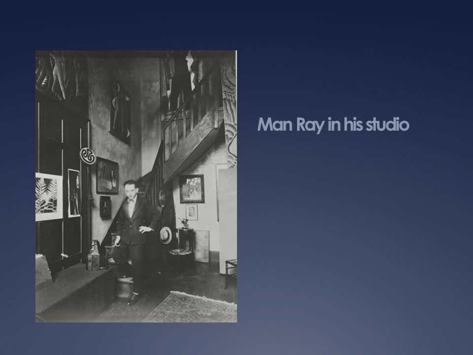 Man Ray in his studio www.manraytrust.com/