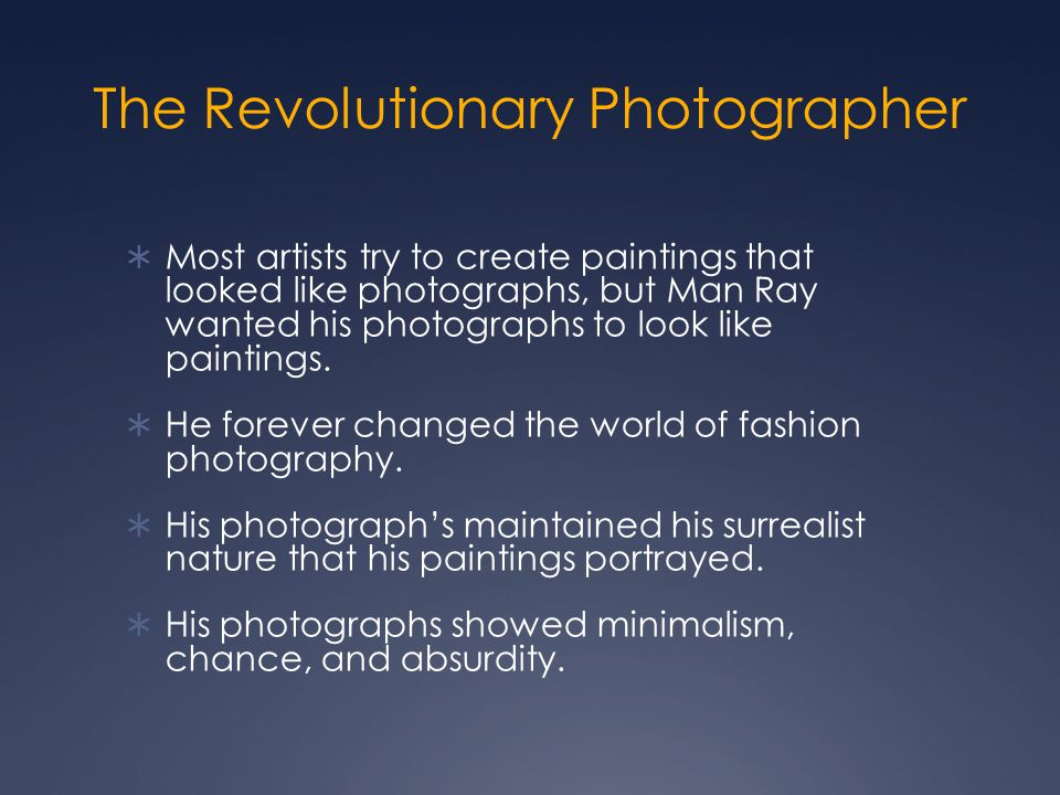 The Revolutionary Photographer