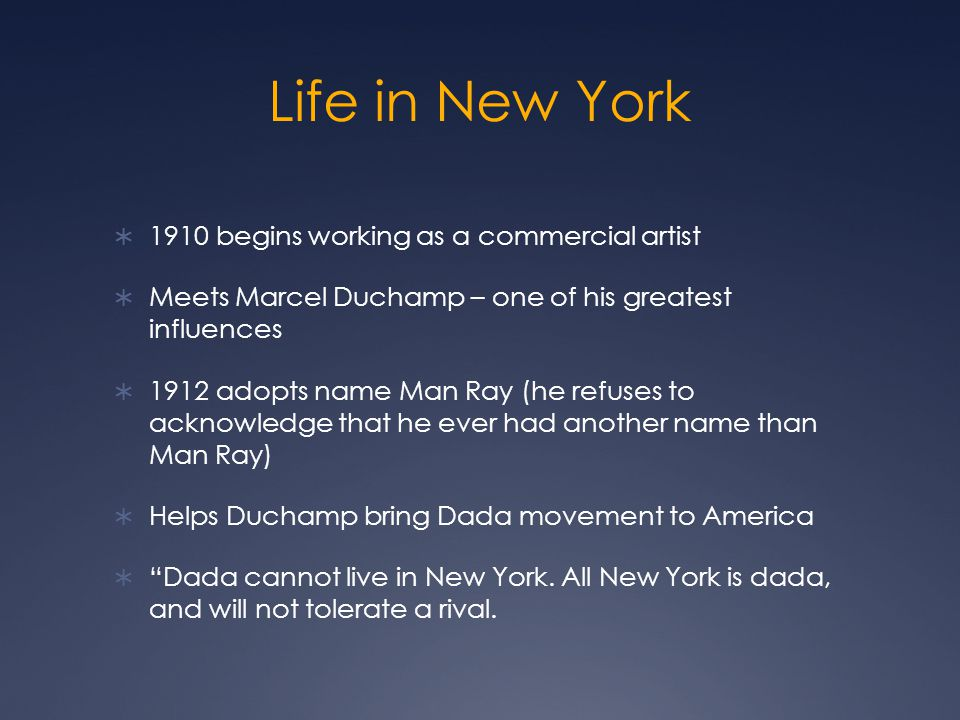 Life in New York 1910 begins working as a commercial artist