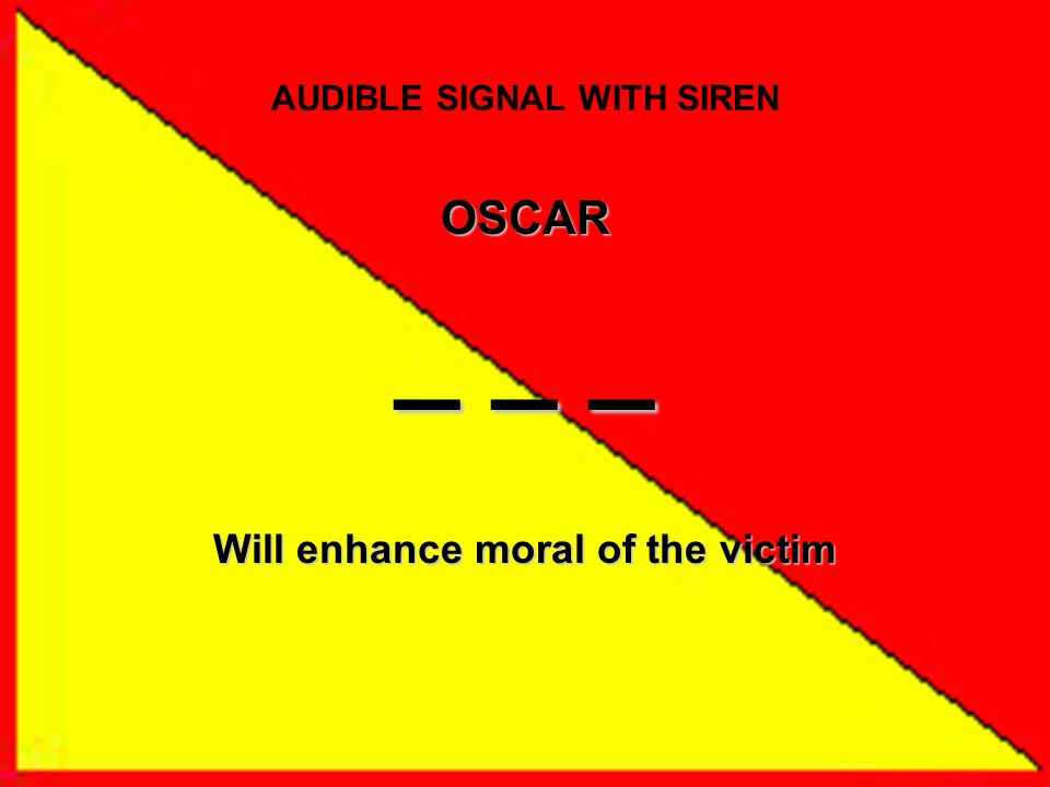 AUDIBLE SIGNAL WITH SIREN