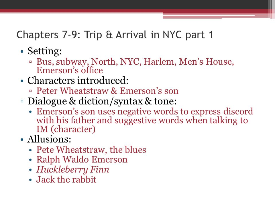 Chapters 7-9: Trip & Arrival in NYC part 1
